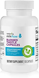 UpSpring Baby Blessed Thistle Capsules, Lactation Supplement Pills, 1000 mg, 100 Count Concentrated Capsules