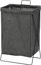 不二貿易 ランドリーバスケット 洗濯かご 幅37cm 容量約30L グレー 横型 折りたたみ 持ち運び可能 内側撥水加工 31507