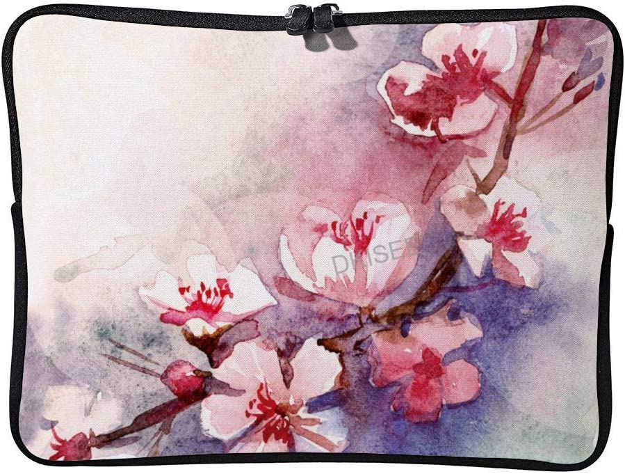 SDS487 DKISEE Plum Blossom Laptop Sleeve for Women Men Compatible with 12 Inch MacBook Air//MacBook Pro Notebook Two-Way Zippers Laptop Carrying Bag Case Cover