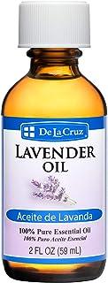 De La Cruz Pure Lavender Essential Oil, Steam-Distilled, Bottled in USA 2 FL. OZ.