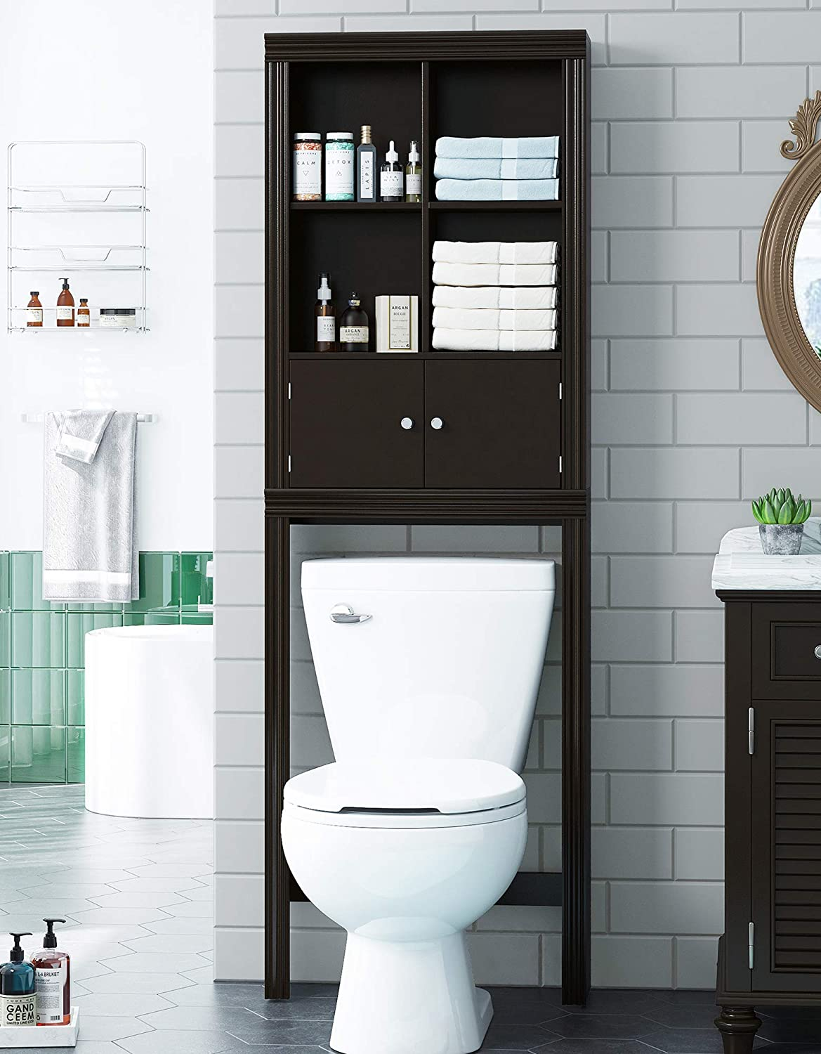 Spirich Home Bathroom Shelf Over Raleigh trust Mall Cabinet Toilet The Or