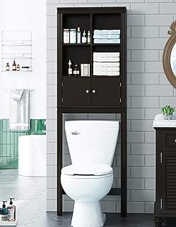 Spirich Home Bathroom Shelf Over The Toilet, Bathroom Cabinet Organizer Over Toilet, Space Saver Cabinet Storage (Espresso)