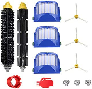 Accessory for Irobot Roomba 600 610 620 650 Series Vacuum Cleaner Replacement Part Kit - Includes 3 Pack Filter, Side Brus...