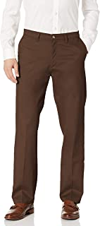 Lee Uniforms Men's Total Freedom Stretch Relaxed Fit Flat Front Pant
