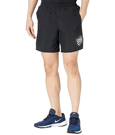 Nike Challenger Shorts 7 Brief Windrunner Graphic (Black/White) Men