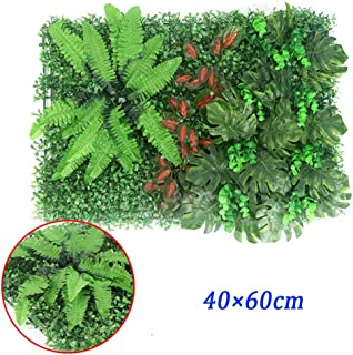 XEWNEG Artificial Hedge Plant Wall Panel, UV Protection Can Be Cut, Privacy Fence Screen Greenery Wall Cover, For Outdoor ...