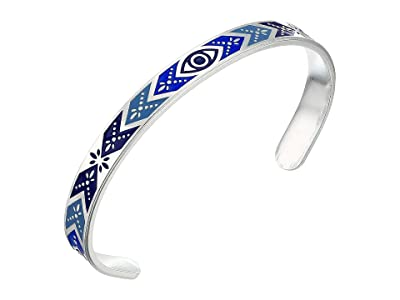 Alex and Ani Color Infusion Evil Eye Cuff Bracelet (Shiny Silver) Bracelet