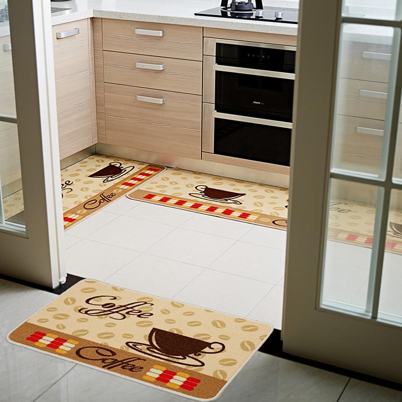 Kitchen long mat Kitchen floor mats Bathroom non-slip mats Bar [absorbent] Oil-proof Household use [bathroom] Bedroom bedside mat-D 50x150cm(20x59inch)