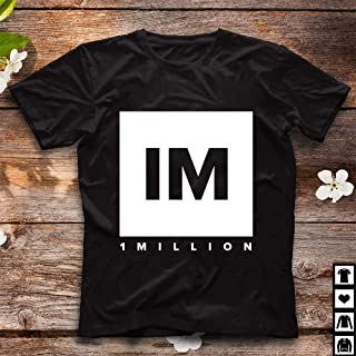 1 MILLION Dance Studio Logo - White Version - 58 Cotton short sleeve T shirt, Hoodie for Men Women Unisex