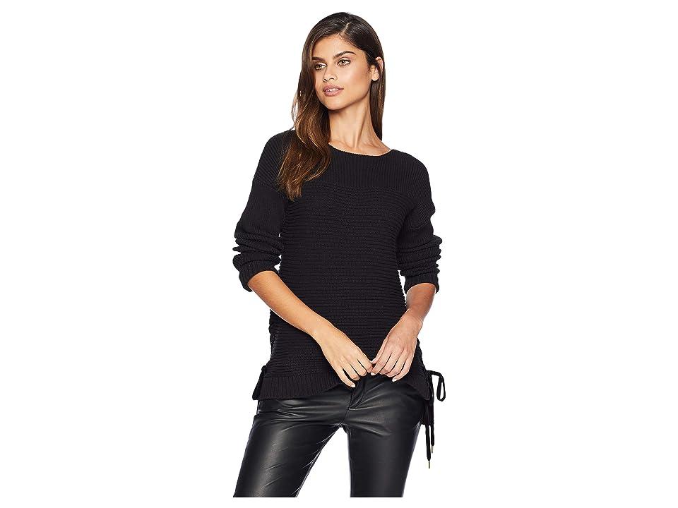 kensie Cotton Tube Yarn Sweater KS0K5821 (Black) Women