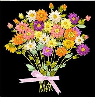 Egoshop Ribbon Embroidery Kit little flower DIY Wall Decor with English Instruction