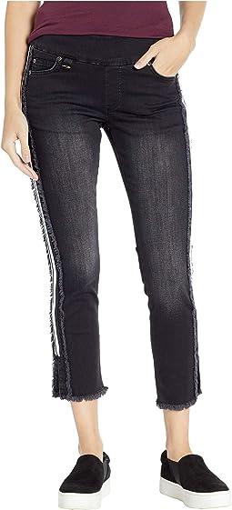 Betty Denim Jeans with Side Stripe & Raw Edge