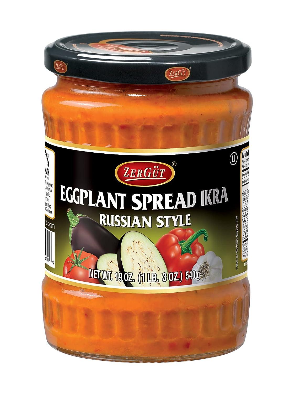 Zergut Eggplant Spread Russian Plant-Based Ikra Spre mart New arrival Style