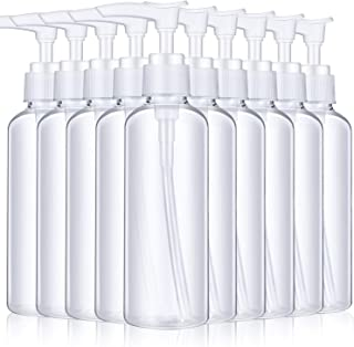 10 Pieces 100 ml Plastic Empty Bottles Empty Shampoo Pump Bottles Lotion Pump Bottles for Travel Outdoor Camping Business ...