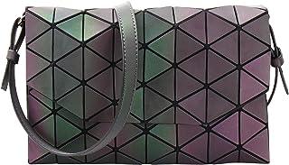 Geometric Shard Lattice Crossbody Bag