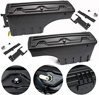 LucaSng ABS Truck Truck Bed Tool Box Storage Case Compatible with Ford F-150 2015-2019 Pickup Set of 2 Driver and Passenge...