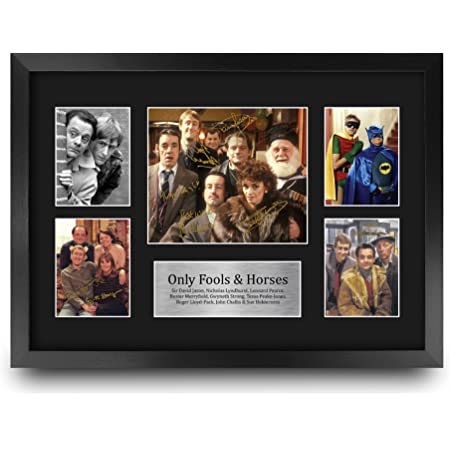 HWC Trading FR A3 Only Fools & Horses Gifts Printed Signed Autograph Picture for TV Memorabilia Fans - A3 Framed