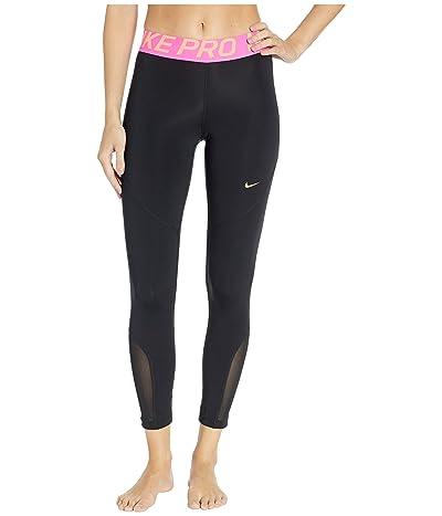 Nike Pro 7/8 Crop Tights (Black/Fuel Orange) Women