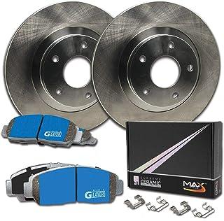 E-Coated Slotted Drilled Rotors + Ceramic Pads Max Brakes Front /& Rear Elite Brake Kit Fits: 2008 08 Pontiac Grand Prix 3.8L; Non GXP Models KT066083