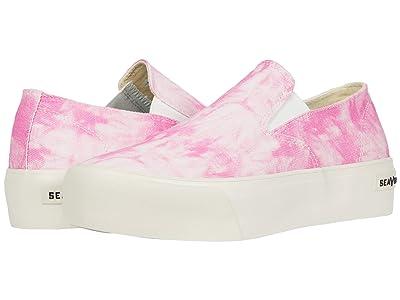 SeaVees Baja Slip-On Platform Tie-Dye (Pink) Women