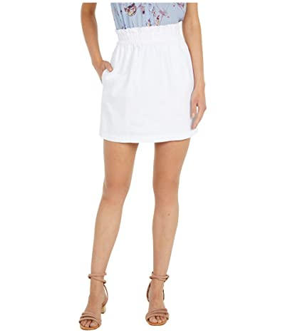 BB Dakota In The Bag Denim Paper Bag Waisted Skirt (Optic White) Women