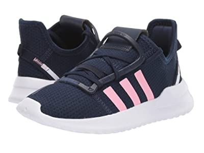 adidas Originals Kids U_Path Run (Little Kid) (Navy/Light Pink/White) Girl