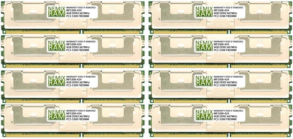 Dell Compatible 32GB (8X4GB) RAM Memory for DELL Precision Workstation 490 PC2-5300 FBDIMM
