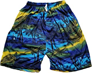 Lavish Men Shorts Joggers for Men Beach Wear Night Wear Swim Wear Gym Wear Multi-Coloured (Blue Yellow)