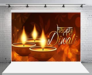 GESEN Happy Diwali Backdrop 10x7ft Indian Festival of Lights Wishes Themed Party Decoration Banner Photo Studio Props LSGE1506