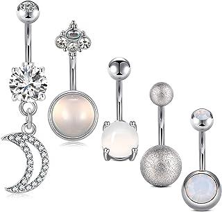 14G Piercing Ombligo Acero Inoxidable Piercing Ombligo Diamante 10MM Joyería Piercing del Cuerpo Mujeres Hombres