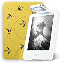Young me All-New Amazon Kindle Case with Light - Lightest and Thinnest Folio Cover Case with Auto Wake/Sleep for All-New Kindle E-Reader 8th Generation (does not fit Kindle Paperwhite), Swallow
