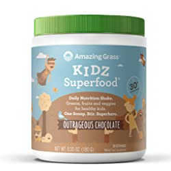 Amazing Grass Kidz Superfood: Organic Vegan Superfood Nutrition Shake for Kids, Greens, Fruits, Vegg