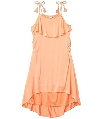 HABITUAL girl Corrine Cover-up High-Low Dress (Big Kids) (Coral) Girl