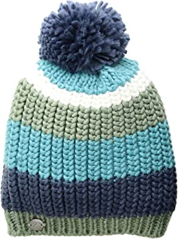 Stripe Pom Knit Hat