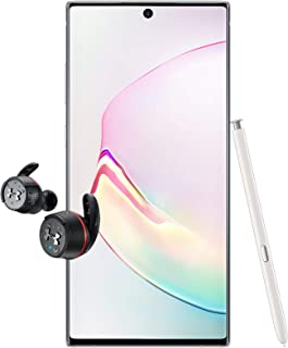 Samsung Galaxy Note 10+ Single SIM - 256GB, 12GB RAM, 5G, Aura White + JBL Under Armour True Wireless Flash Earphone