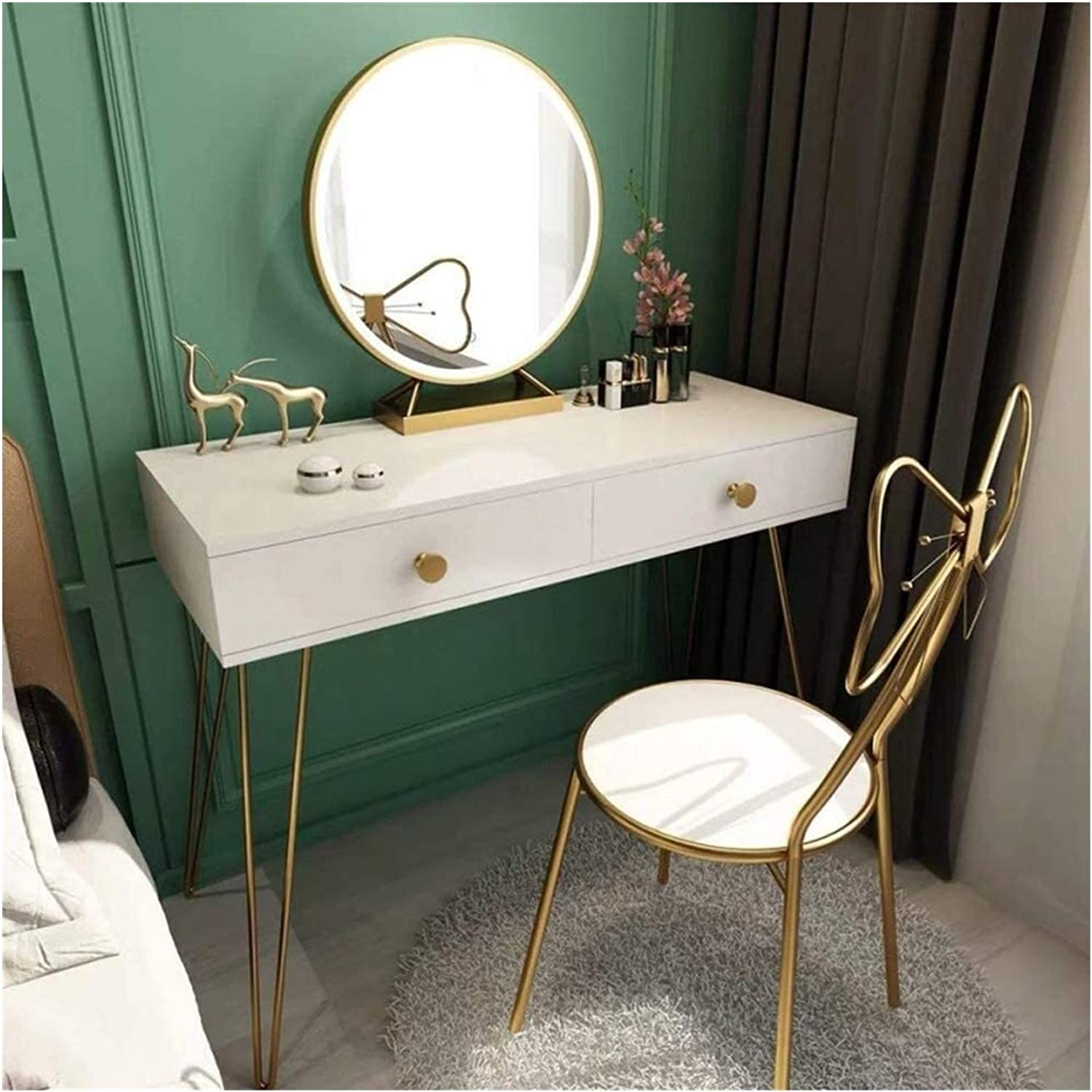 Best Free shipping on posting reviews Design Vanity Benches Nordic Modern Bedroom Table Dressing Bargain