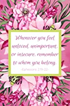 Whenever You Feel Unloved, Unimportant, Or Insecure, Remember To Whom You Belong. Ephesians 2:19-22: Prayer Diary - Guided Pages with Biblical Verses ... Prompts - Journal for Devout Catholic Women