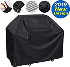Grill Cover Waterproof BBQ Grill Cover Outdoor Universal Cover for Most Brands of Grill,2 Sizes Black (L(57x24x46in), Black)