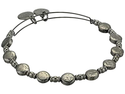 Alex and Ani Coin Charm Bangle (Midnight Silver) Bracelet