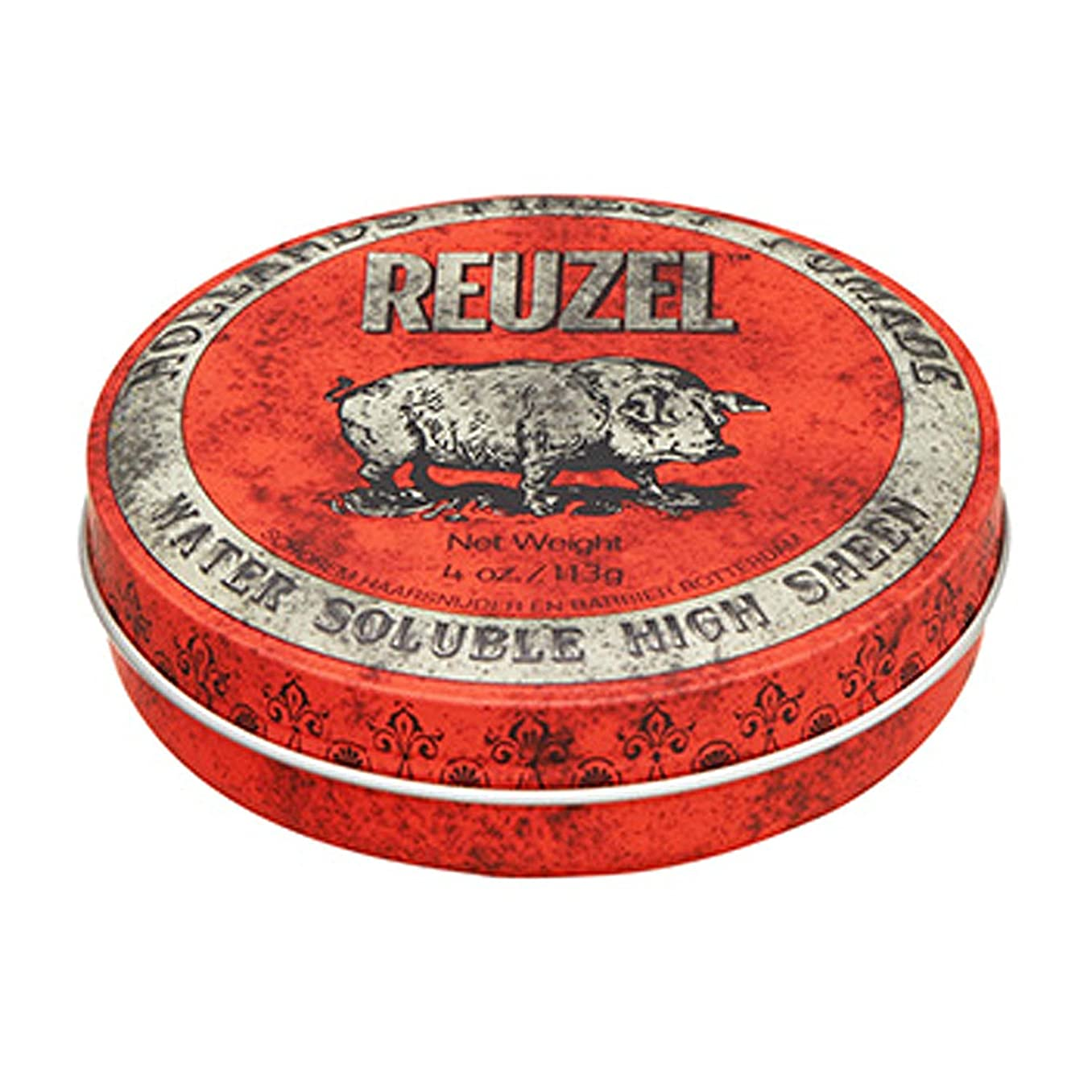 急速なポーター特権的ルーゾー REUZEL HIGH SHEEN ノーマルホールド レッド 113g