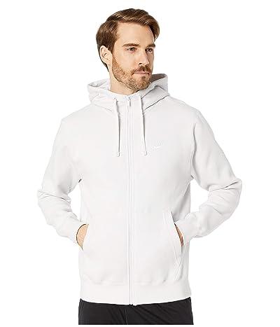 Nike NSW Club Hoodie Full Zip (Vast Grey/Vast Grey/White) Men