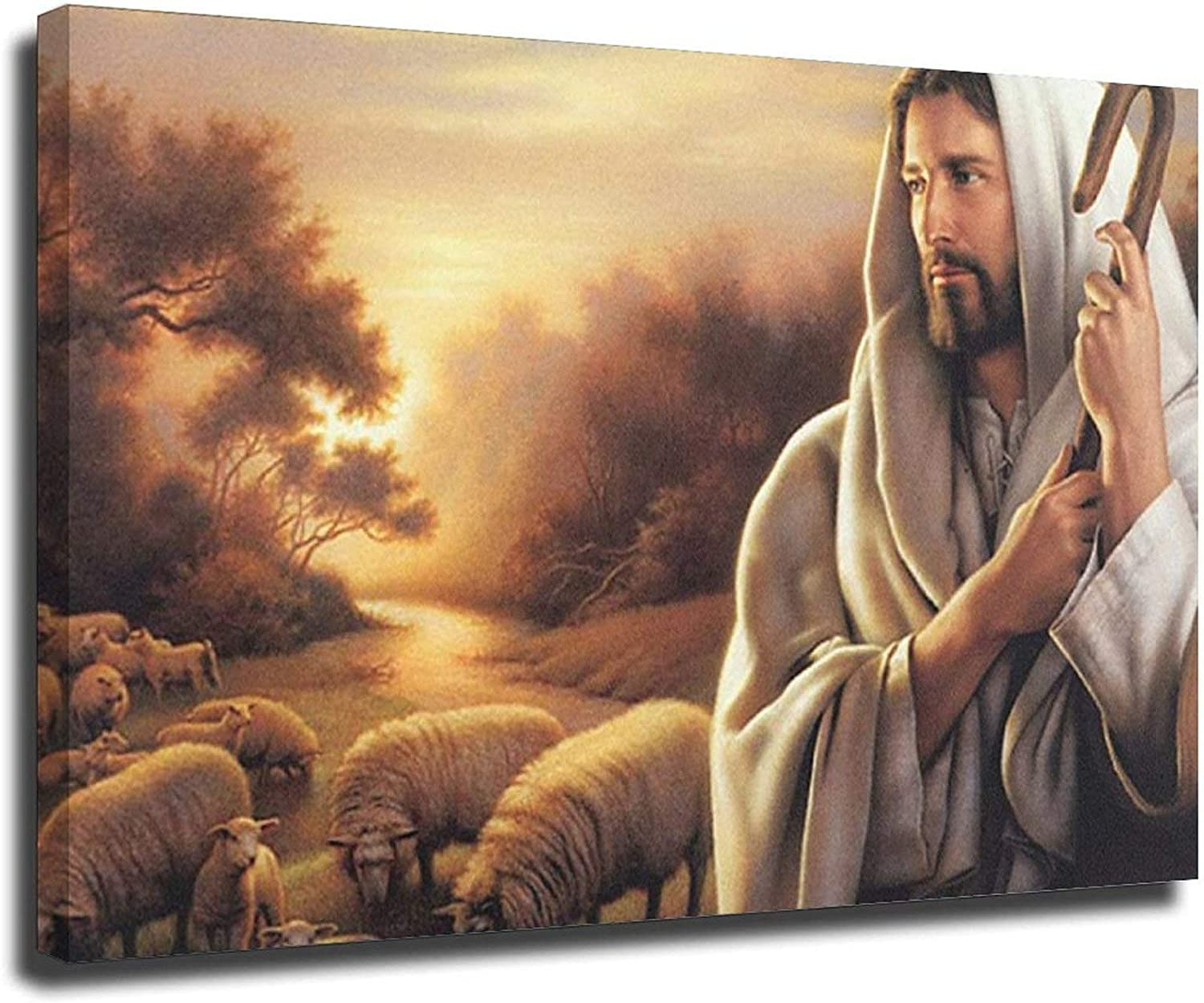 Jesus Christ A surprise price is realized The Good Shepherd Painting Canvas Print Wall Max 40% OFF Art Ch
