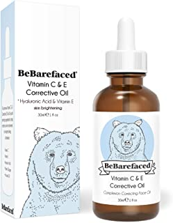 Sponsored Ad - BeBarefaced Vitamin E Face Oil - Facial Vitamin C Night Serum With Hyaluronic Acid by BeBarefaced