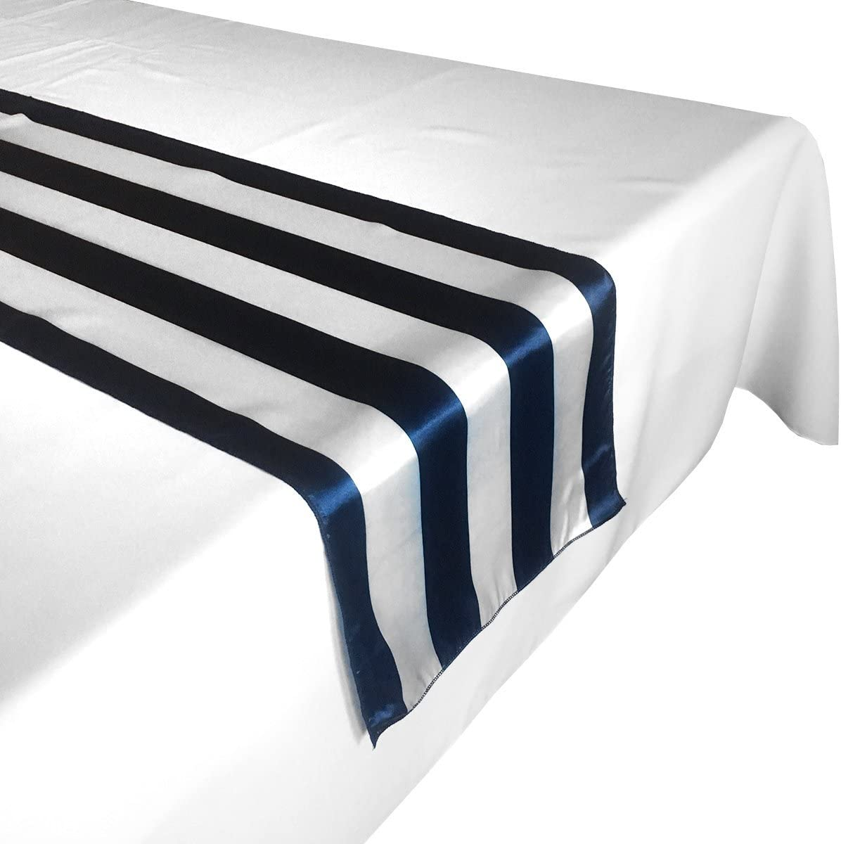 lovemyfabric Pack of Fresno Mall Raleigh Mall 10 Satin 2 Striped W Table Inch for Runners