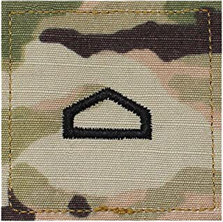 Army PFC ROTC Cadet Rank OCP Scorpion with HOOK Fastener-PRIVATE FIRST CLASS