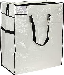 Household Essentials Medium Storage Bag, Clear Polyethylene with Black Trim