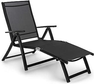 comprar comparacion Blumfeldt Pomporto Lounge Tumbona de Exteriores - Hamaca para Tomar el Sol, Superficie de 173,5 x 51 cm, Respaldo reclinab...
