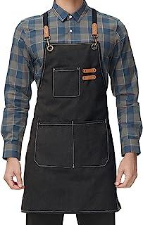 پیش بند آشپزخانه بوم مردانه زنانه آشپز آشپز آشپزخانه ضربدری 3 جیب