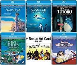 The Founders Blu-ray Collection: Written & Directed by Hayao Miyazaki (Nausicaa of the Valley of the Wind / Castle in the Sky / My Neighbor Totoro / Kiki's Delivery Service / + More) +Bonus Art Card
