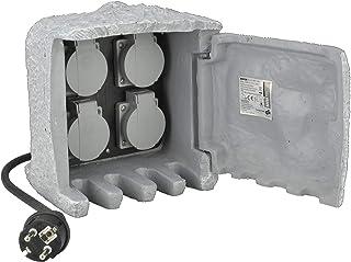 Unitec 44241Socket Splitter in Stone Look with 4Sockets